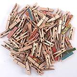 100pcs Z Zicome Mini Colorful Natural Wooden