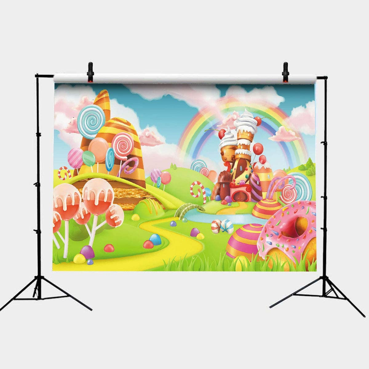 Orange and Pink 10x12 FT Photo Backdrops,Festive Warm Colored Balloons with Swirls Celebration Themed Composition Background for Child Baby Shower Photo Vinyl Studio Prop Photobooth Photoshoot