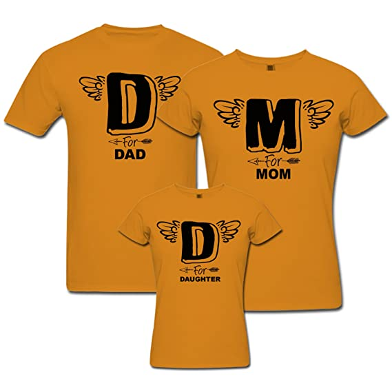 264b446b9 pepperClub Family Tshirt - Set of 3 for Mom Dad and Kid- D for Daughter