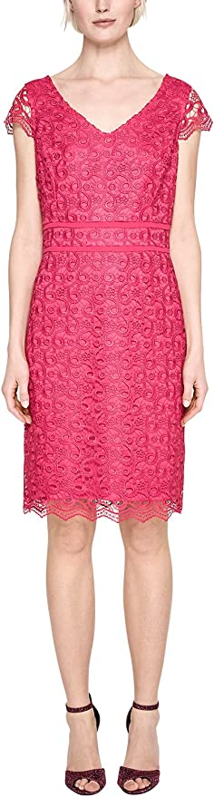 s.Oliver BLACK LABEL Damen Figurbetontes Kleid aus Spitze