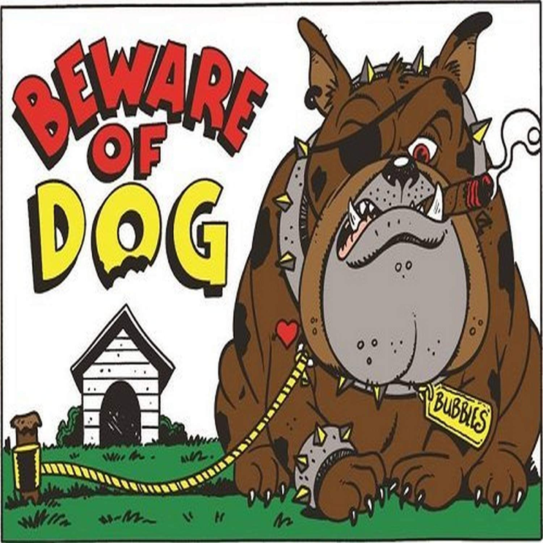 "Hillman 839924 Black /& Red Beware Of Dog Sign 8/"" X 12/"""