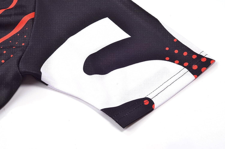 Mzcurse Women's Short Sleeve Cycling Jogging Jersey Shirt Blouse Tees Zipper Elastic