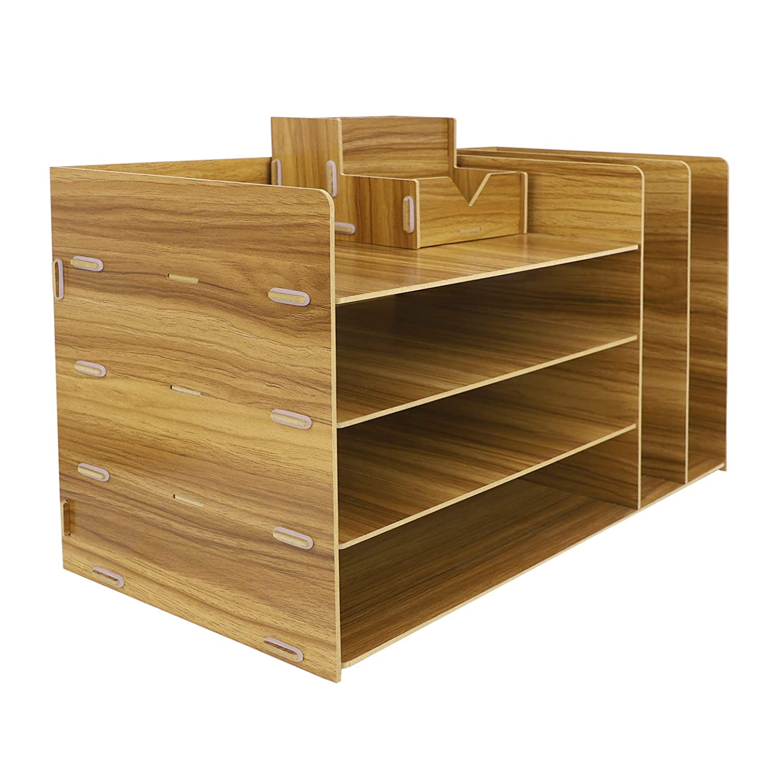 Organizer da scrivania per documenti casa e scuola Kirschholz organizer da tavolo organizer in legno organizer da ufficio per ufficio