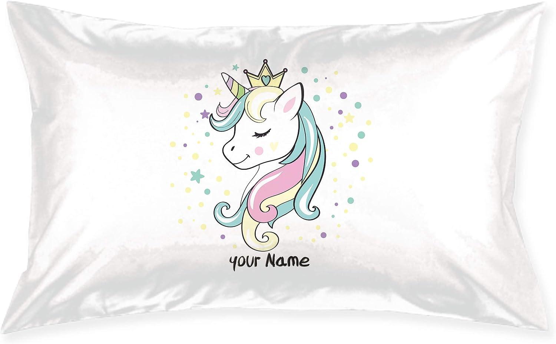 Styles 1-9 Name Personalised Pillowcase Unicorn