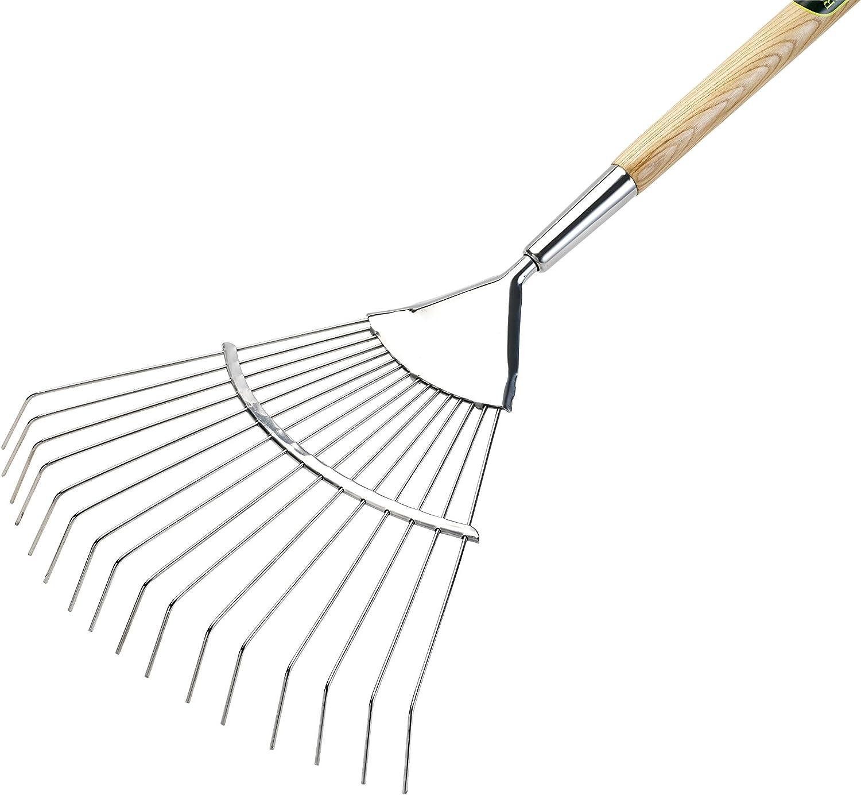 Spear /& Jackson Kew Gardens PLASTICRAKEKW Leaf Rake with Replaceable Tines