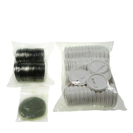 Sol 58 mm Chapas de en blanco y botones de repuesto para botón de ...