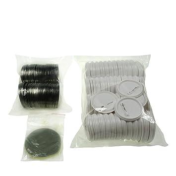 Sol 58 mm Chapas de en blanco y botones de repuesto para botón de insignias y