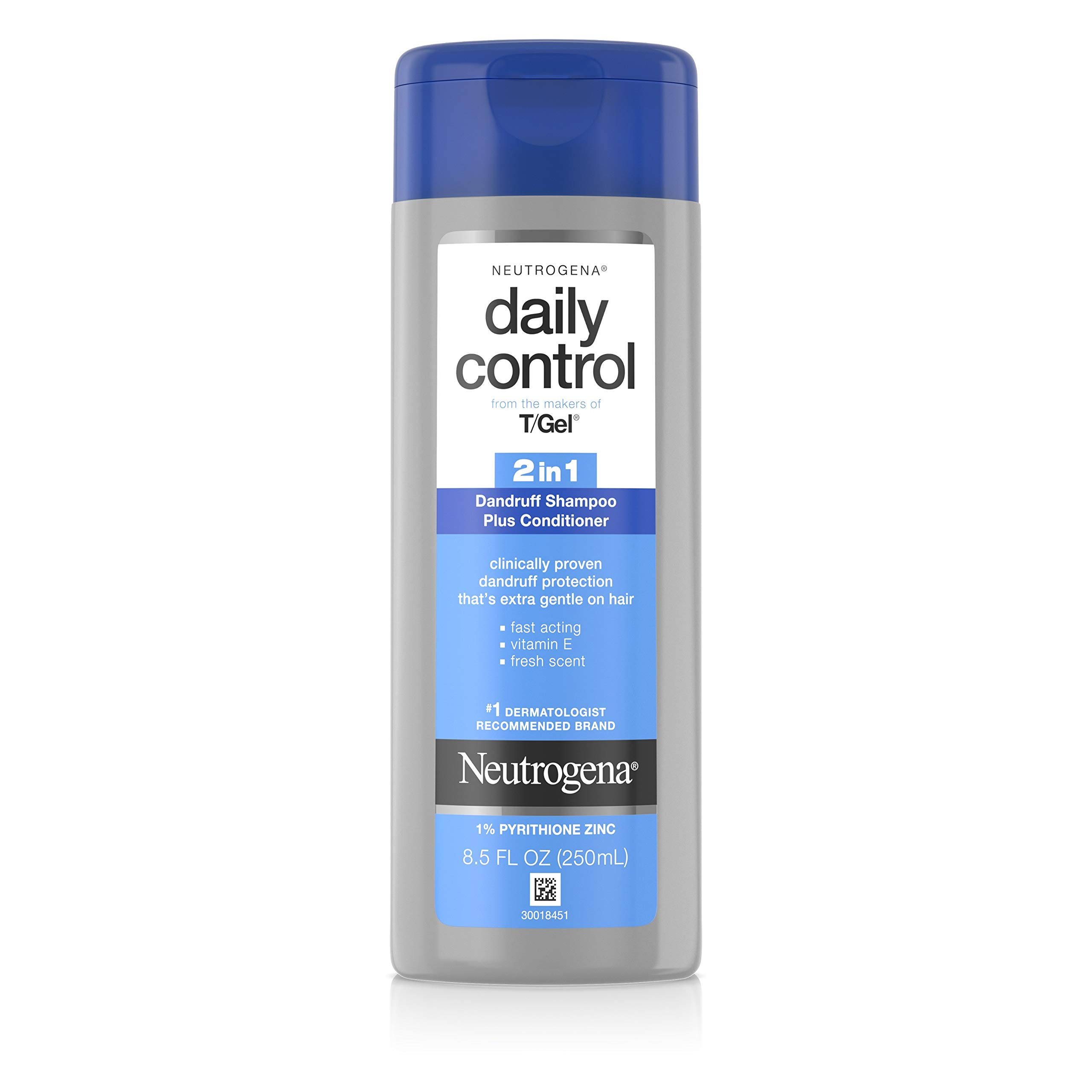 Neutrogena T/Gel Daily Control 2-in-1 Anti-Dandruff Shampoo Plus Conditioner with Vitamin E and Pyrithione Zinc, Fast Acting Relief for Scalp Itching and Flaking, 8.5 fl. oz by Neutrogena (Image #1)
