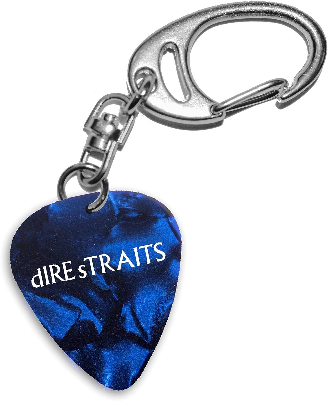Dire Straits Mark Knopfler Band Logo Blue Keyring Llavero de púa ...