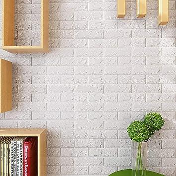KINLO Sticker 3D Brique Mural Autocollant 15pcs 77 X 70 Cm Adhesif Papier  Peint Décoration Maison