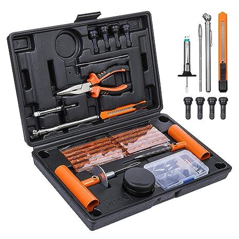 Amazon.com: Juego de reparación de neumáticos y herramientas ...