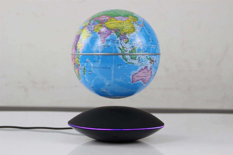 15,2 cm große, magnetische, schwebende Weltkarte, Globus, automatische Rotation, wechselnde LED-Induktionslampe in Globe für Kinder, Lern-Geschenk, Zuhause, Büro, Schreibtisch Dekoration