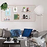 """Oucles Grid Photo Wall Set of 1, Wall Decoration Organizer Photo Hanging Display Multi-Functional Wall Storage for Home Kitchen and Office Size 17.7""""x37.4""""(Rose Gold)"""