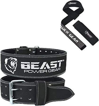 Beastpowergear Weight Lifting Belt (10MM Thick & 4 Inches Wide) Advanced Back Support for Weightlifting and Heavy Powerlifting- Weight Belts for Lifting Men - Men & Women