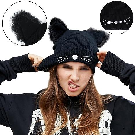Bonice Donna Caldo inverno delle lane Crochet Baggy Beret Beanie Caps 08662d2f0d82