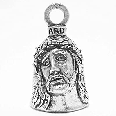 Guardian Christ Crown of Thorns and Holy Cross Motorcycle Biker Luck Gremlin Riding Bell or Key Ring: Automotive