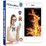Cellbell TM Reliance Jio LYF Flame 2 9H Premium Tempered glass screen protector with FREE Installation Kit