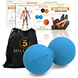 5BILLION Double Massage Ball - Therapy Peanut Ball, Stress Ball & Double Lacrosse Ball - Deep Tissue Massage Tool for Back, Foot, Neck (blue)