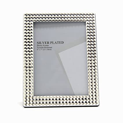 cab5ec6f06e8 Buy Silver plated wall   table décor photo frame(5x7) Online at Low Prices  in India - Amazon.in