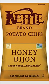 product image for Kettle Brand Potato Chips, Honey Dijon, 8.5 Ounce Bags (Pack of 12)