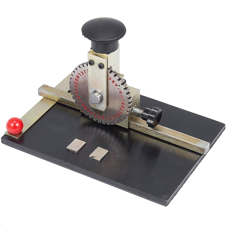 VEVOR Sheet Embosser Manual Deboss Metal Embosser Machine Dog Tag Specific Model Date Serial Number Stamping Embossing Marking Machine with 4MM Print Wheel