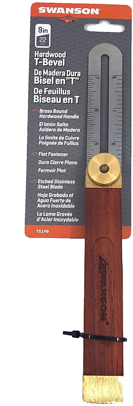 DOITOOL 1PCS 9 Inch Sliding T-Bevel Gauge Woodworking T Bevel ...