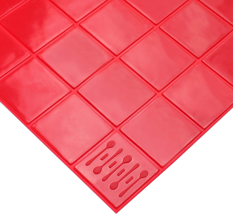 "KMN Home, DrawerDecor Non-Slip BaseMat Liner, Kitchen Shelf Organizer - 14"" x 20"", Red"
