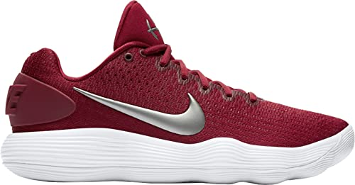 online retailer 31b46 c447d ... discount nike mens react hyperdunk 2017 low team red metallic silver  white synthetic running shoes 219cd