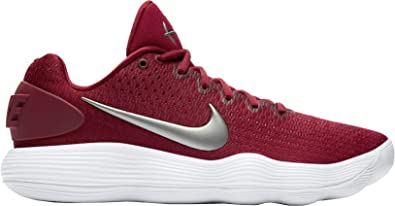 076a3e5aade8 Nike Men s React Hyperdunk 2017 Low Team Red Metallic Silver White  Synthetic Running Shoes