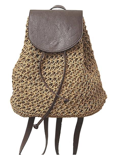 Amazon.com: HopeEye para mujer tendencias de moda paja ...