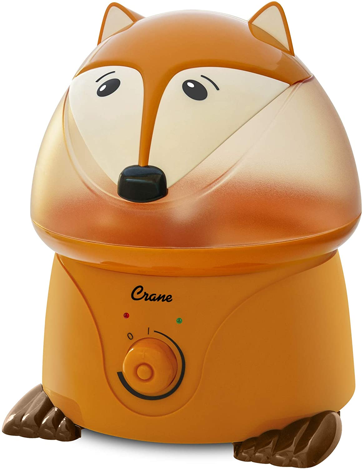 Crane Adorables Ultrasonic Cool Mist Humidifier, Filter Free, 1 Gallon, 24 Hour Run Time, Whisper Quite, for Home Bedroom Baby Nursery and Office, Fox