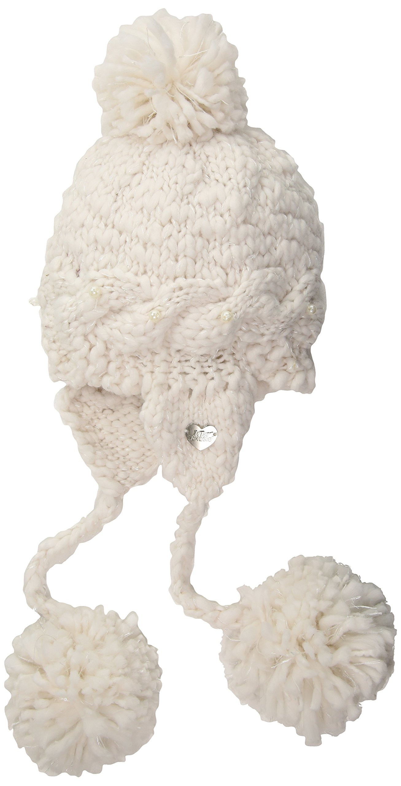 Betsey Johnson Women's Pearly Girl Earflap Hat, Ivory, ONE SIZE