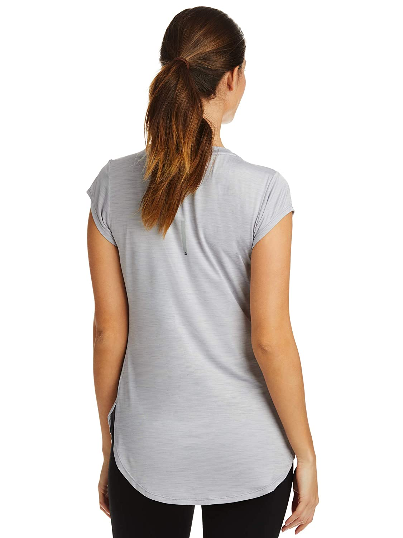 Reebok Womens Legend Performance Short Sleeve T-Shirt with Polyspan Fabric