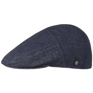 Stetson Maryland Denim Flat Cap Jeans (L (58-59 cm) - Denim)  Amazon ... a82f88f768c2