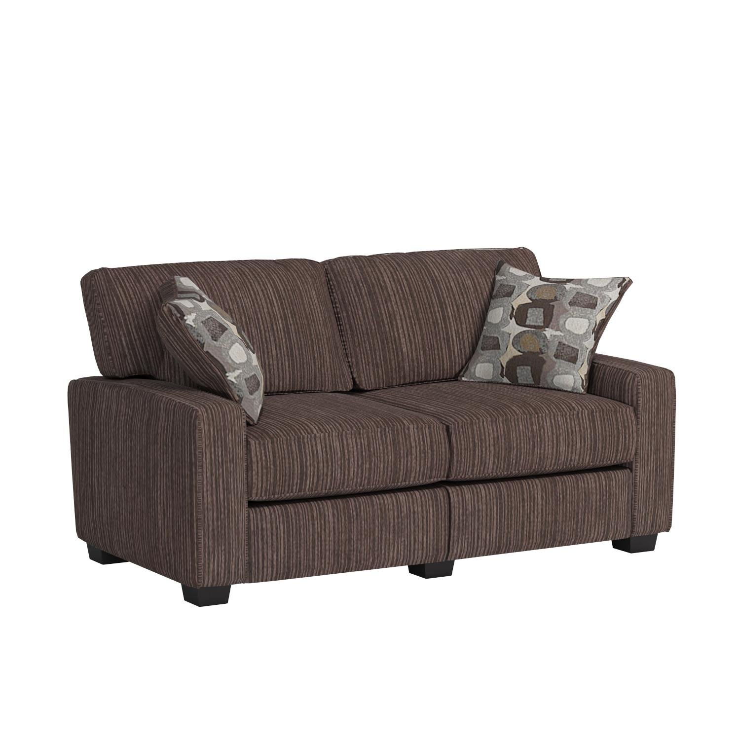 Serta RTA Palisades Collection 61'' Loveseat in Riverfront Brown by Serta (Image #13)