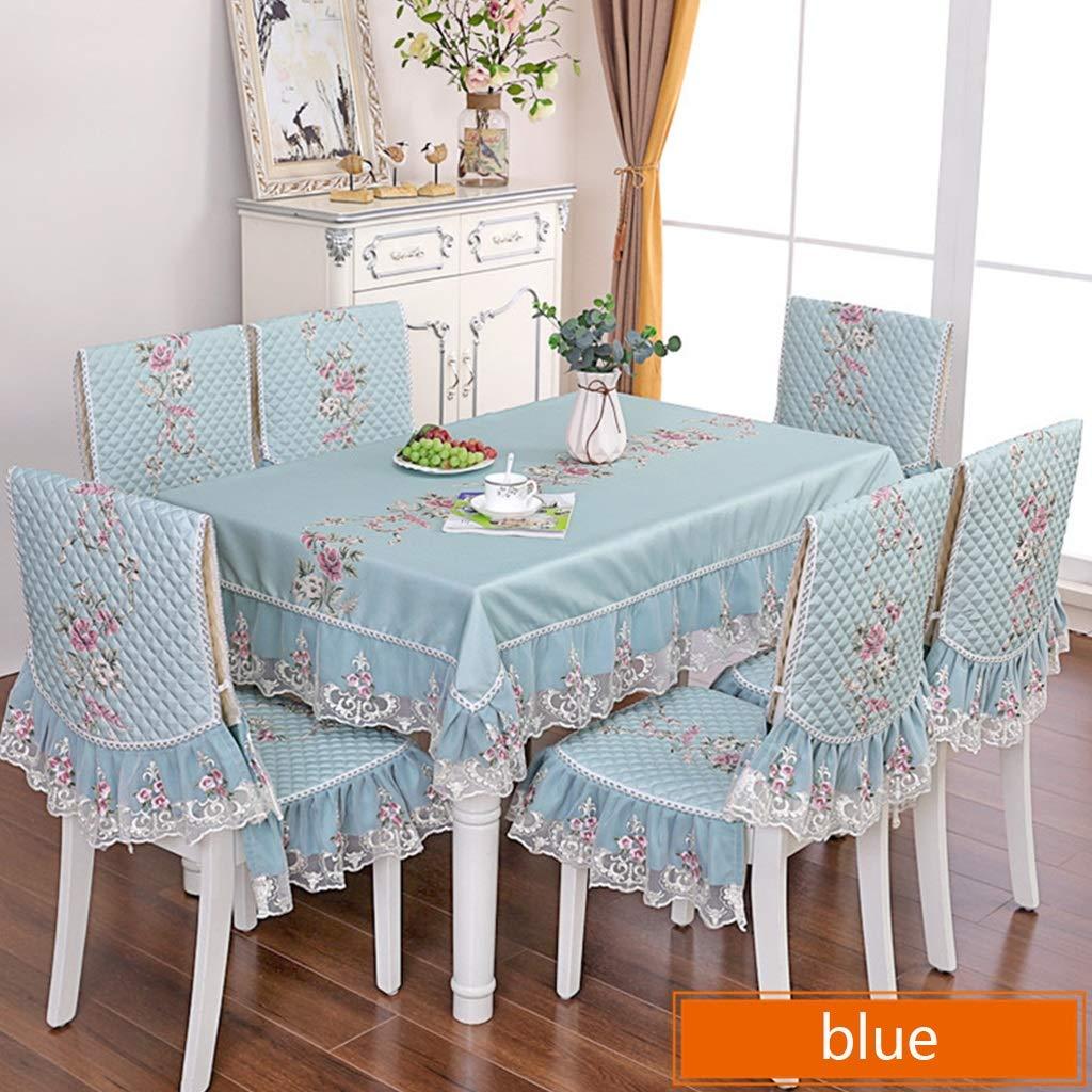 artículos de promoción 2  Chair cover6 Table Table Table cloth  -) Cubierta de Silla Lavable Doble Mantel Manta de Encaje Europea Cubierta de Tabla Antideslizante (4-6 Personas) (Color   2 , Tamaño   Chair Cover6)  Envíos y devoluciones gratis.