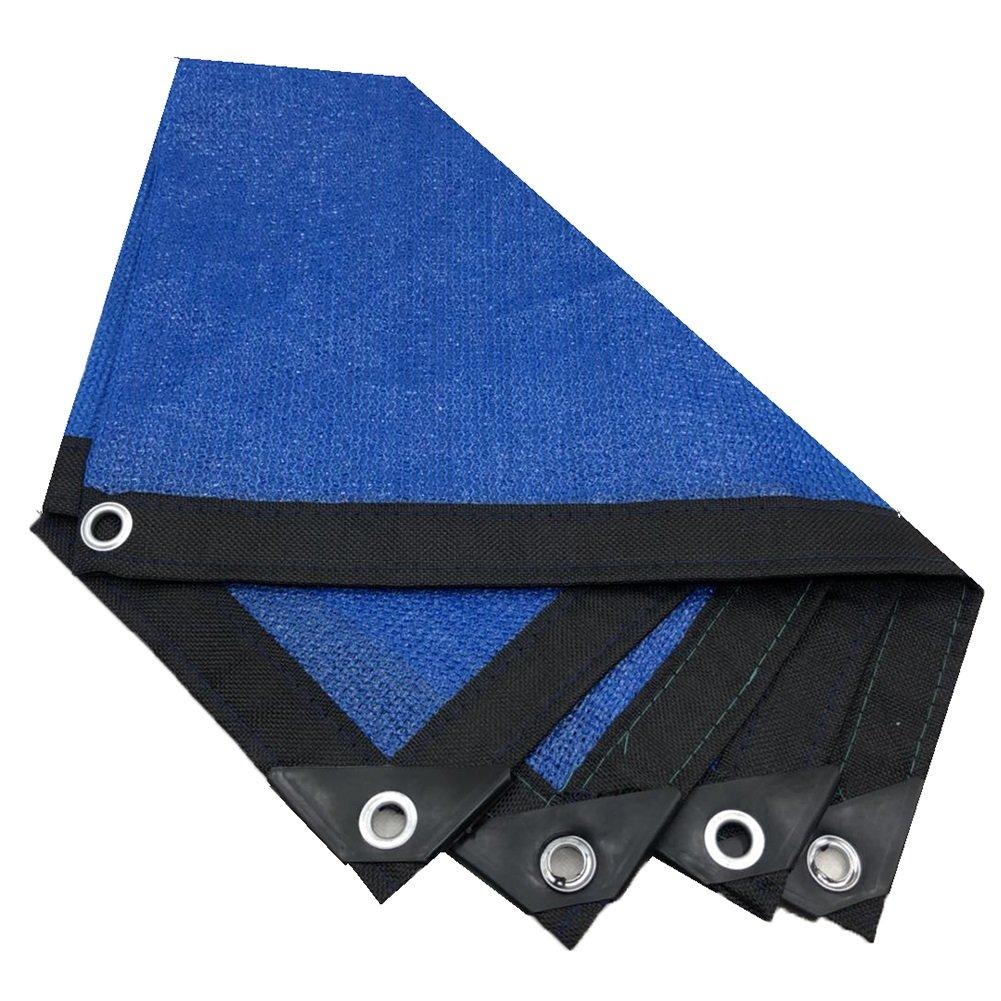 HAIPENG Schattierungsnetz Schattennetz Bodenplane-Abdeckungen Schutz Sonnencreme Plane Polyethylen Wärmeisolierung Balkon Draussen (Farbe   schwarz+Blau, größe   5x5m)