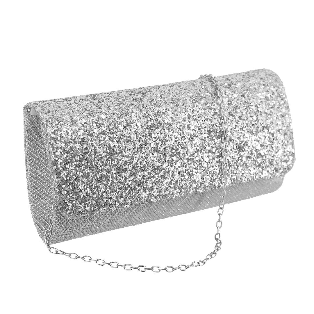 Naimo Womens Sequin Evening Purse Wedding Party Clutch Bag