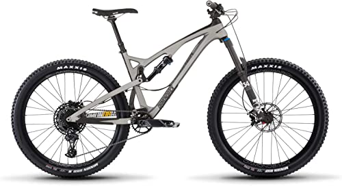 Release 4C Carbon Full Suspension Mountain Bike, Silver, 17 MD