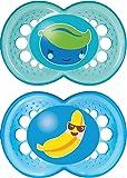 Mam SR3602B - Confezione da due ciucci Yummy, colore: Blu