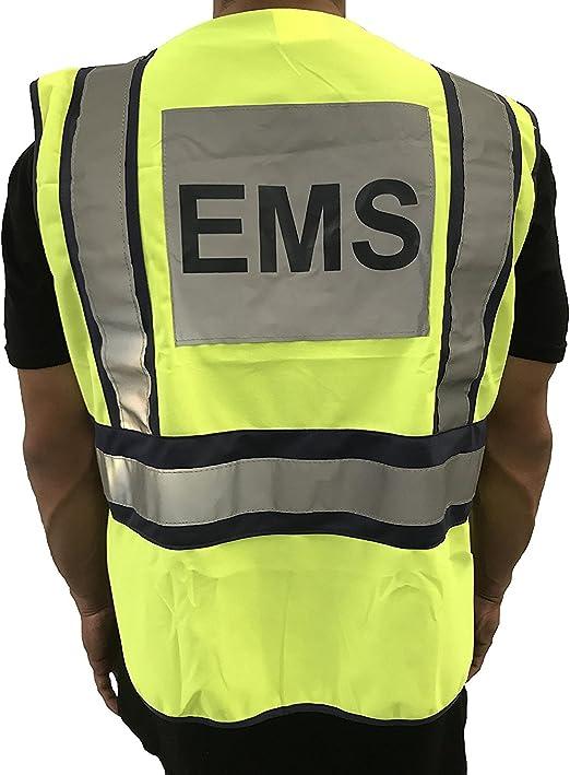 Amazon.com: line2design Chaleco de seguridad EMS ANSI tela ...