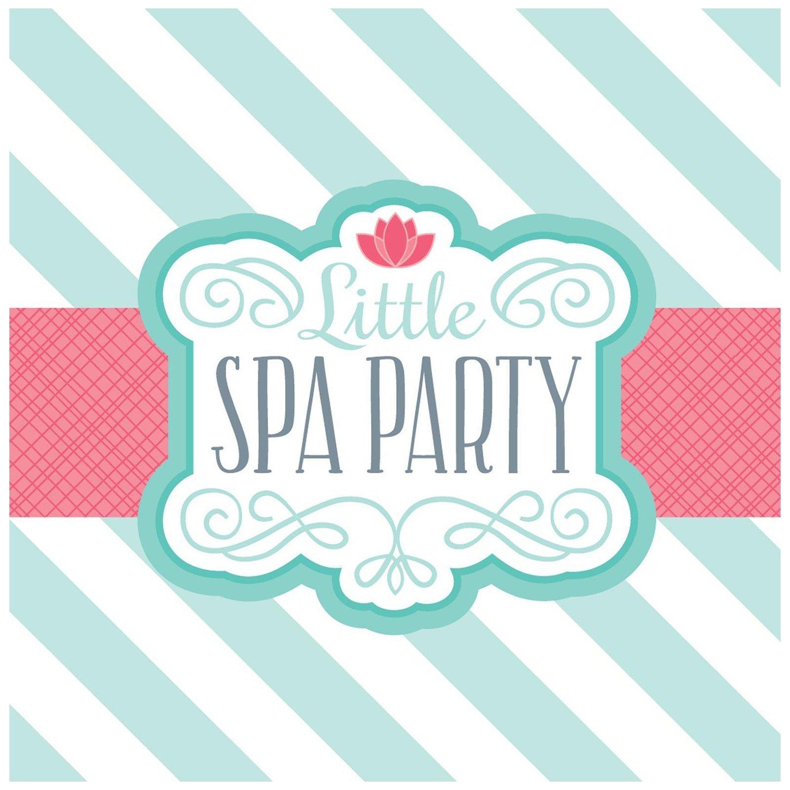 BirthdayExpress Little Spa Salon Makeover Party Supplies - Lunch Napkins (20)