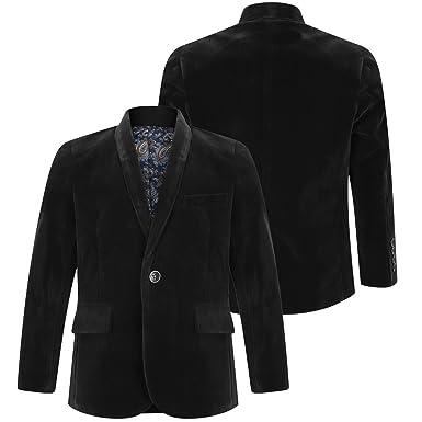 b808ae792 Baby and Boys Velvet Blazer Jacket Black Navy Blue Red Maroon 1 Year ...