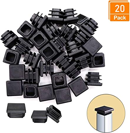 bouchon pour tube rectangulaire 100x40 noir plastique Embout bouchons dobturation 10 pcs