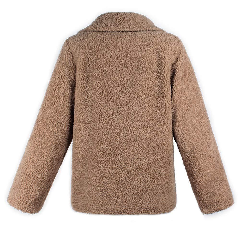 JiaMeng Otoño Invierno Warm Outwear Chaqueta con Cremallera de Lana Artificial cálida Chaqueta con Cremallera Parka de Invierno: Amazon.es: Ropa y ...