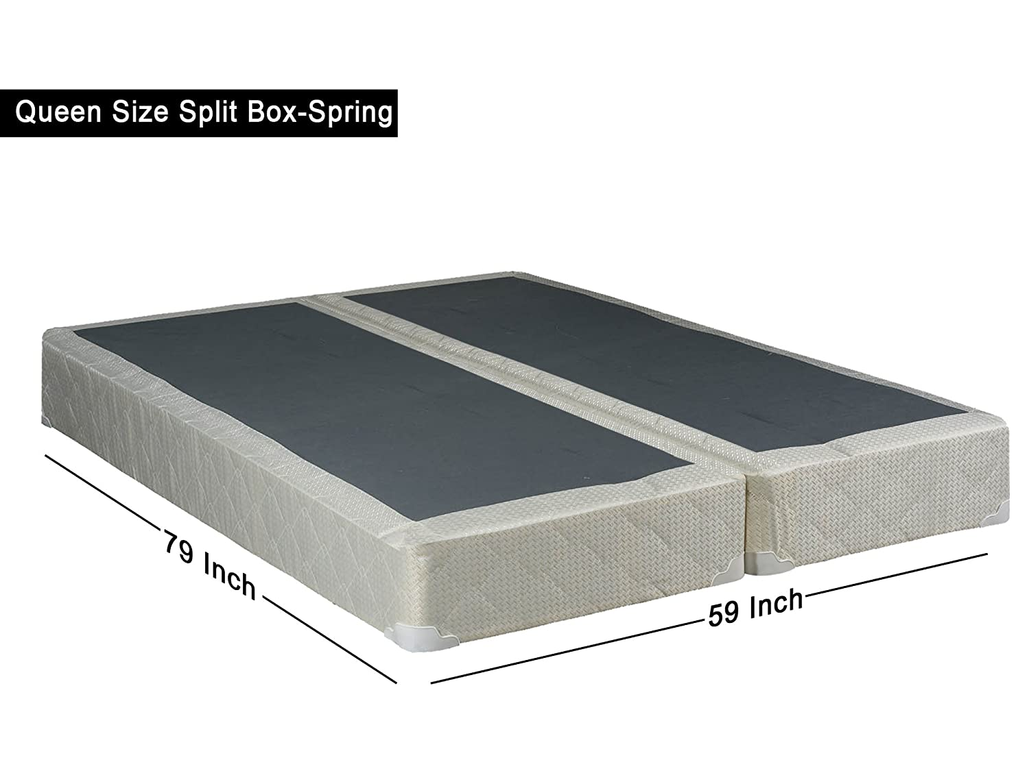 Amazon Com Spinal Solution 8 Inch Queen Size Split Foundation Box