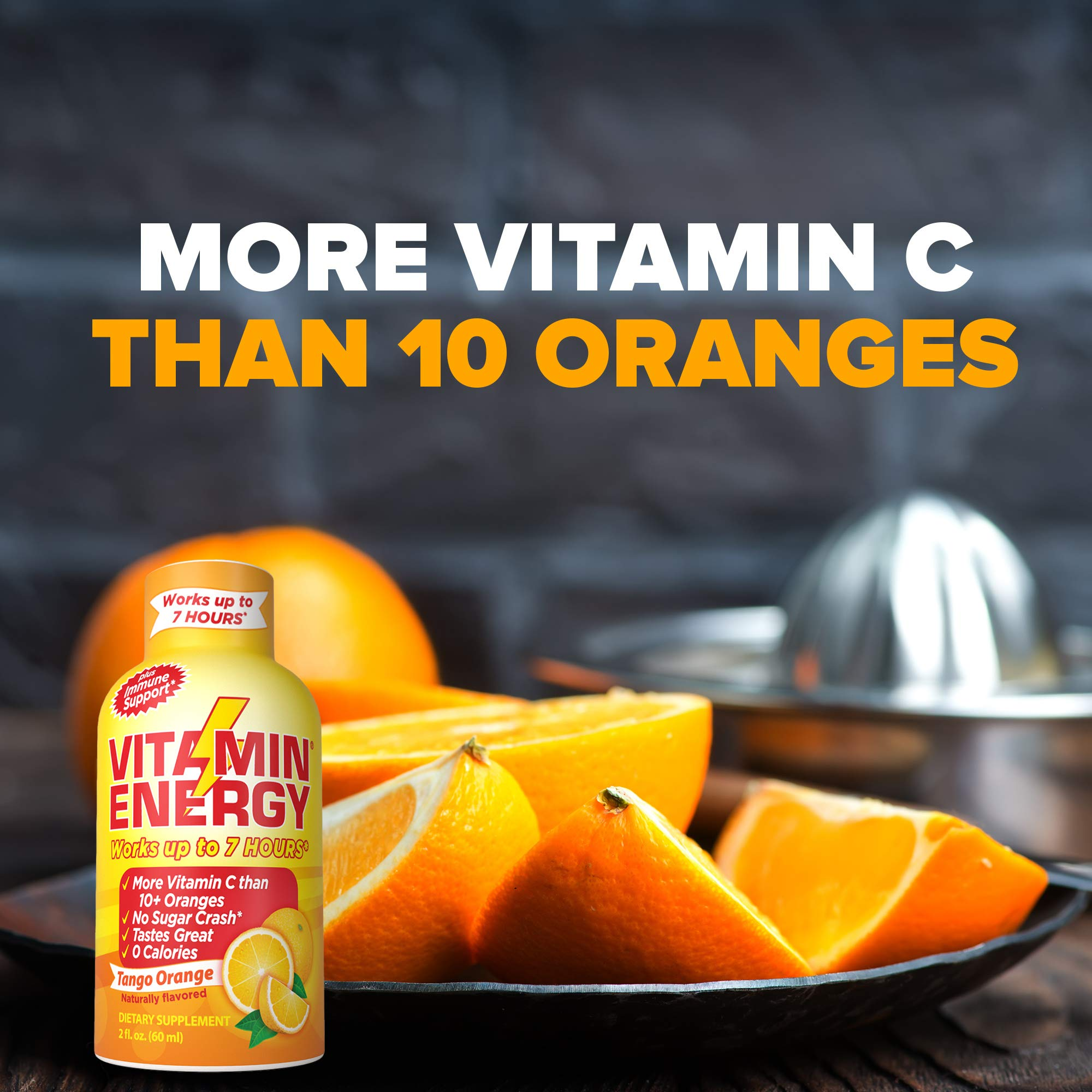 Vitamin Energy Shots – up to 7 Hours of Energy, More Vitamin C Than 10 Oranges, 0 Calories (48 Count) by Vitamin Energy (Image #7)