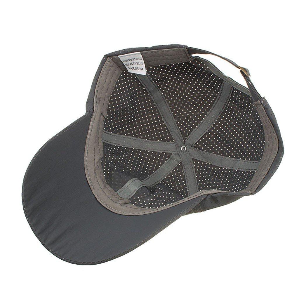 Cealu Unisex Fashion Golf Cap Adjustable Summer Solid Hat Ventilation Baseball Hats Breathable Lightweight Mesh Cap (Grey) by Cealu (Image #3)