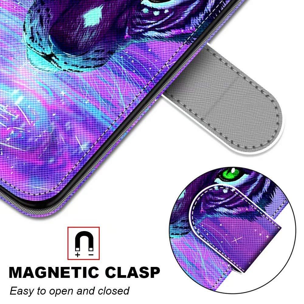 Miagon Flip PU Leder Schutzh/ülle f/ür Samsung Galaxy S7,Bunt Muster H/ülle Brieftasche Case Cover St/änder mit Kartenf/ächer Trageschlaufe,Schnee Hund