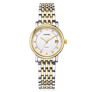 4ede97da0 Amazon.com: Comtex Women Wrist Quartz Watches Gold Tone Stainless ...
